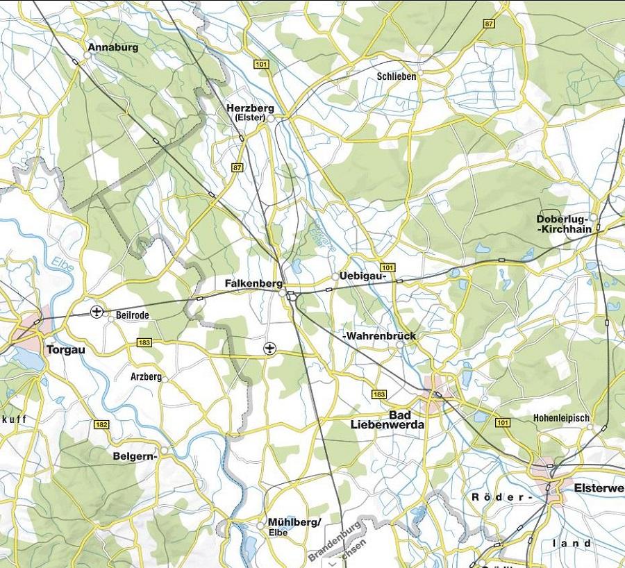 Hausmeisterservice Gebietskarte